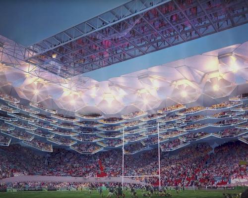 Global sports architects HOK want to design boundary-pushing rugby stadiums / HOK