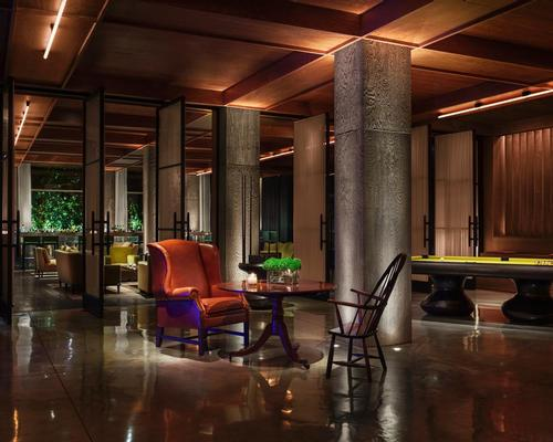 He described the interiors, by the Ian Schrager Company, as 'personal, provocative and flamboyant' / PUBLIC