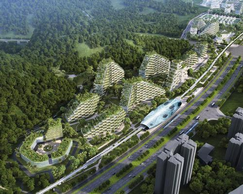 The green city, designed to fight pollution through design, is the first of its kind in the country / Stefano Boeri Architetti