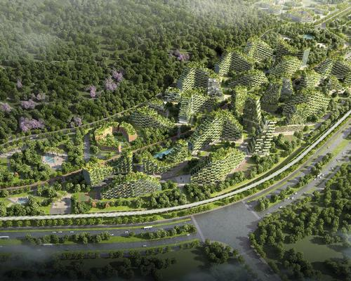 In total, Liuzhou Forest City will host 40,000 trees and almost 1 million plants of over 100 species / Stefano Boeri Architetti