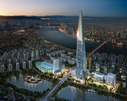 The 123-storey Lotte World Tower in Seoul, South Korea is the 6th tallest building in the world