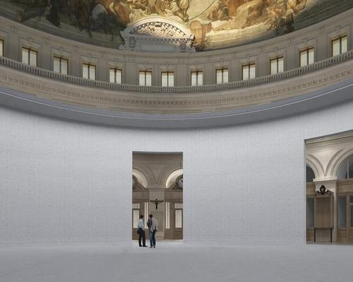 The exterior and interior of the building's dome will be renovated / The Pinault Collection