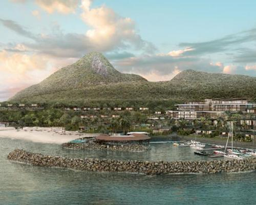 The 120-bedroom Fairmont Saint Lucia – expected to open in late 2019 – will be spread across 25 acres and feature a 1,870ft private beach / Fairmont