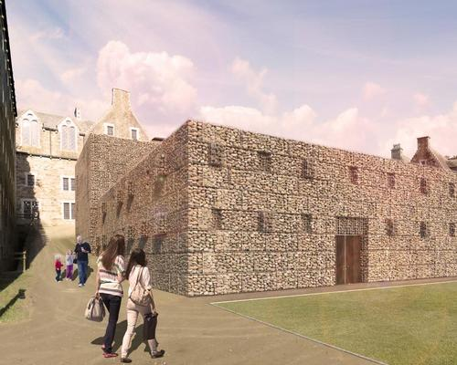 The renovation work will be complemented by a new 1,200sq m building housing an attraction called 'Dark Walk' / Twelve Architects