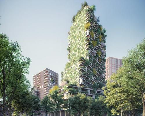 The Hawthorn Tower will host on its façades around 10,000 plants of different species / Stefano Boeri Architetti