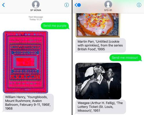 San Francisco's MOMA creates unique SMS service that sends art to user's phones