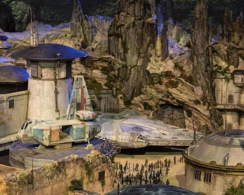 Disney reveals scale model of new Star Wars lands at D23