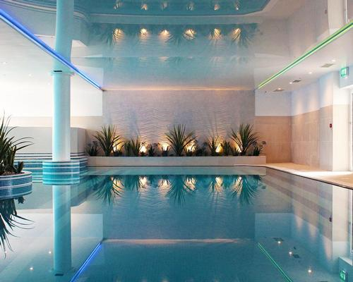 The 1,290sq ft club has an indoor pool