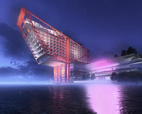 David Walsh plans five-star suspension bridge hotel for Hobart's Museum of Old and New Art