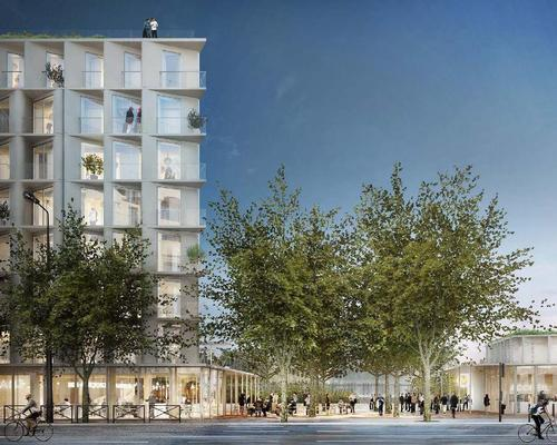 The masterplan also earmarks space for a seven-storey residential and restaurant building / SO – IL and Lisne Roussel