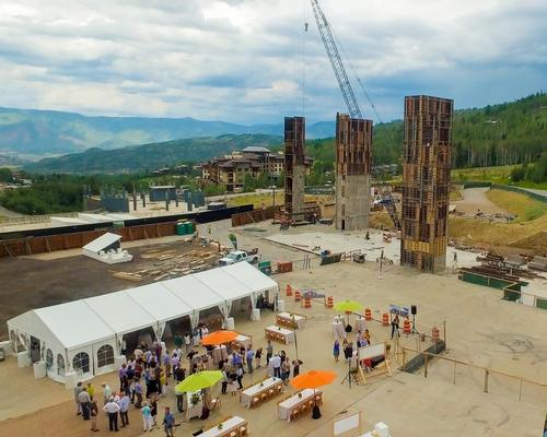 Construction began on the site this week / Snowmass Base Village