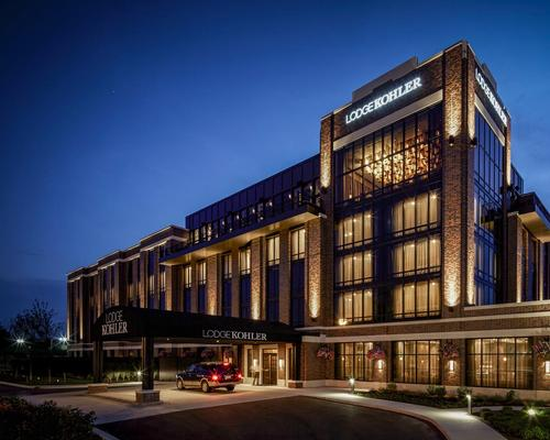 Kohler opens fourth spa hotel with views of Green Bay's Lambeau Field