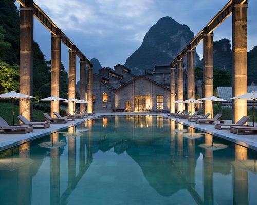 Alila Yangshuo, set in historic sugar mill, features underground, 'cave-like' spa with walls of volcanic rock