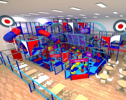 A computer generated image of the soft play area, which is being created to encourage activity among young people