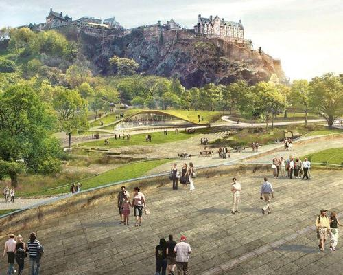 wHY's competition-winning design proposal for the £25m Ross Pavilion and West Princes Street Gardens project in Edinburgh / wHY and Malcolm Reading Consultants