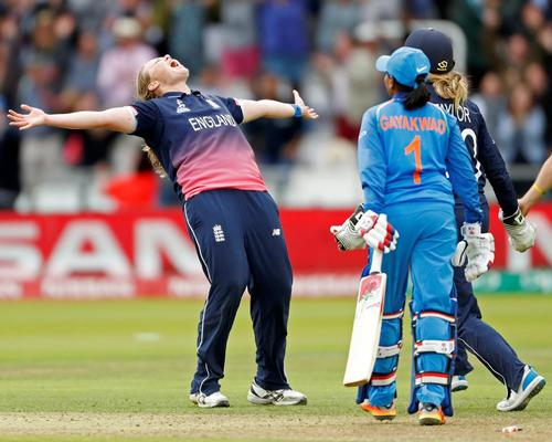 England's women beat India at Lord's to win the 2017 Cricket World Cup / JOHN SIBLEY/Reuters/PA Images