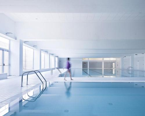 Sports halls, multi-purpose event spaces, a gymnasium, a swimming pool and physiotherapy rooms all feature
