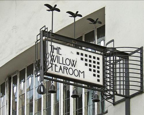 The Willow Tea Room Building is the only surviving tea room designed in its entirety by Charles Rennie Mackintosh