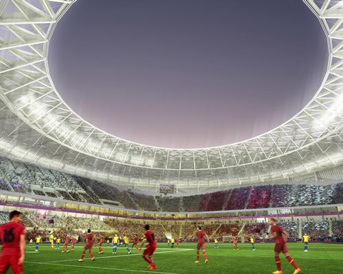 The stadium will seat 40,000 fans in 2022, with the capacity reduced to 20,000 in 'legacy mode' after the tournament