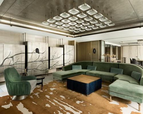 The 2,250sq ft (209,000sq m) Entertainment Suite has been conceived as 'a welcome respite from Hong Kong's hectic streets'