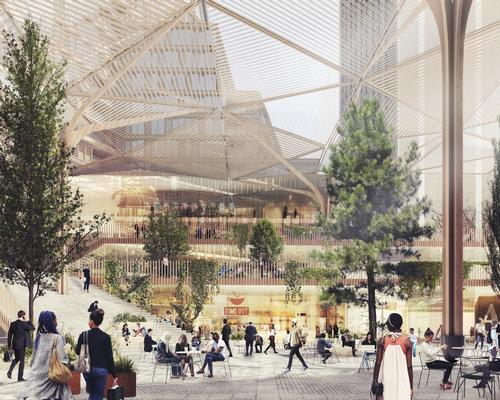 The architects wil introduce 4,400sq m (47,300sq ft) of new 24-hour public plazas and green spaces / Schmidt Hammer Lassen