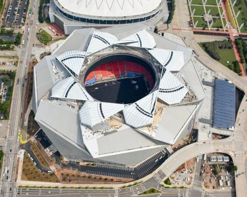 The retractable roof is perhaps the stadium's most eye-catching feature