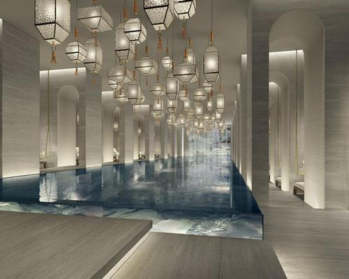 Yabu Pushelberg have designed the hotel's two-storey spa / Four Seasons