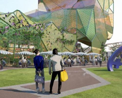 Designed by ARM Architecture, the colourful, twisting gallery is expected to be built to the south of the city's Evandale Lake / Gold Coast City Council