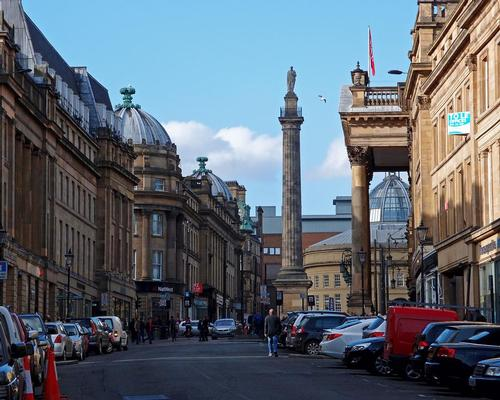 Local firm Space Architects are designing the scheme, which will encompass nine existing neoclassical buildings on Grey Street / Wiki Commons