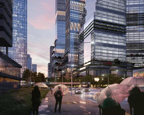 Mecanoo's proposal – featuring retail spaces, leisure facilities, apartments, offices and a hotel – aims to create a strong identity for the neighbourhood  / Mecanoo