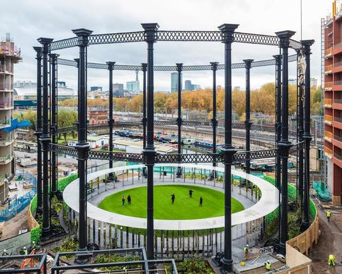 Previous examples of gasholder reuse include Bell Phillips Architects' Gasholder Park near London's King's Cross Station / Bell Phillips Architects