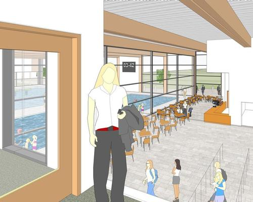The new centre will house an eight-lane, 25m swimming pool and large health club