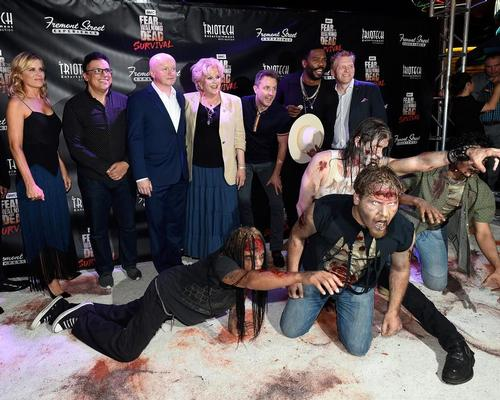 Stars of Fear the Walking Dead were on-hand for the attraction's launch