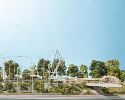 Foster + Partners' new design adapts the aviary's structure to suit its new inhabitants – a troop of colobus monkeys and parrots – and offers visitors an enhanced experience / Foster + Partners