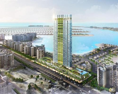 With an emphasis on landscaping, greenery, health and well-being, Palm Beach Residences 'features dramatic vertical landscaping and extensive grounds' / Nakheel