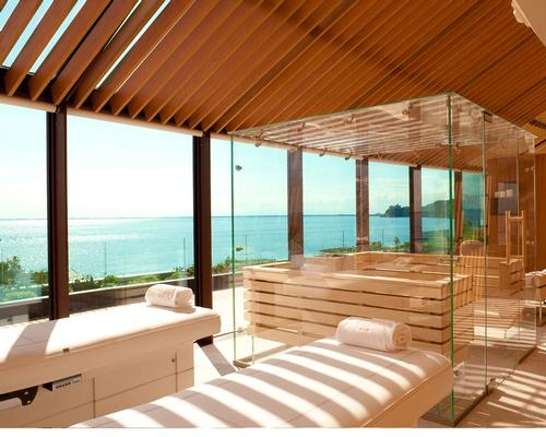 The spa has a panoramic VIP suite for couples, overlooking the Sistiana Bay
