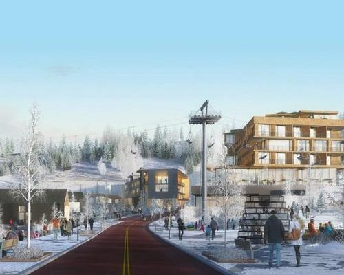 Architects and environmental designers Studio Ma have master planned the ski village site and designed many of the residences and leisure communities / Beauty and the Bit