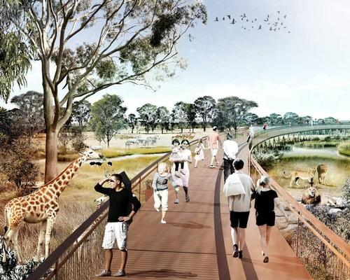 The zoo will feature 30 exhibits, including African safari animals