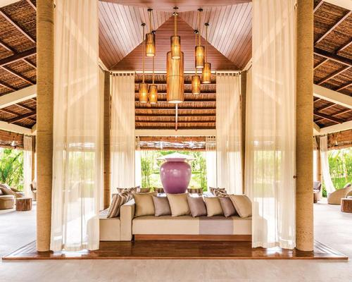 The reception area of the 11,210sq m (121,000sq ft) Maia Spa Phu Quoc