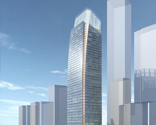 The hotel will be housed in a new mixed-use tower overlooking Dalian's historic port and downtown core / Four Seasons