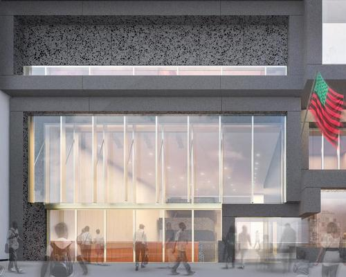 The extension is designed to be porous and welcoming at street level / Studio Museum in Harlem
