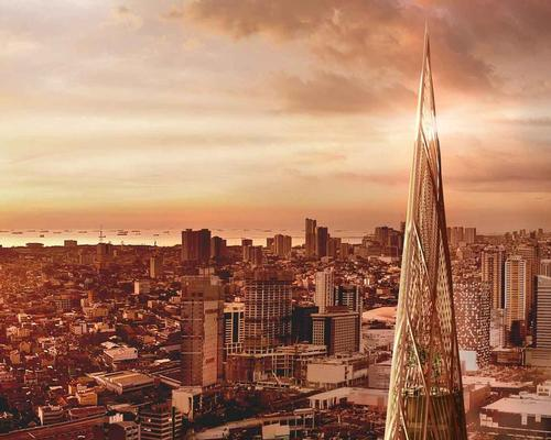 The tower has been conceived to redefine the city's skyline with its distinctive pointed form / Henning Larsen