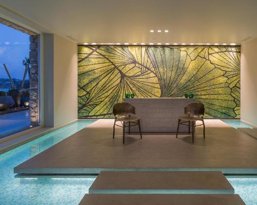 The new spa includes five large treatment rooms and flowing water adding to the serenity of the relaxation area
