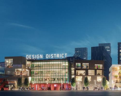 Billed as the first purpose-built district designed for London's creative industries, The Design District will provide a permanent base for over 1,800 people working in creative fields / Knight Dragon and Uniform