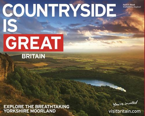 VisitBritain's GREAT campaign are among the initiatives which have drawn visitors to the UK