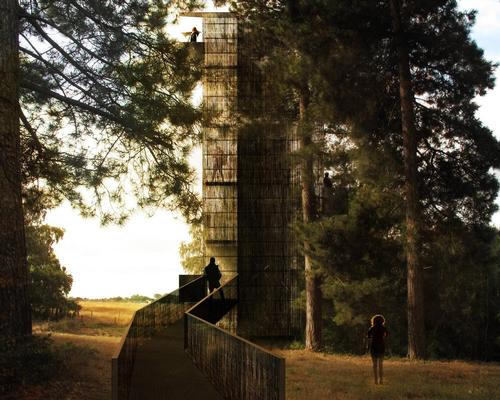 The observation tower has been conceptualised by architecture firm Nissen Richards Studio / National Trust