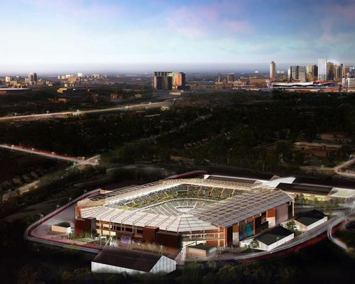 The new stadium design will play a key part in Nashville's bid for expansion into the MLS / HOK
