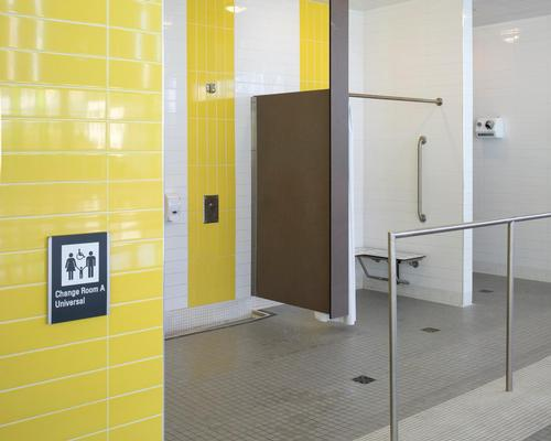 The universal change rooms are gender neutral and help promote inclusivity through design / Tom Arban
