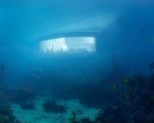 The bottom of the building will rest directly on the sea bed, 5m underwater