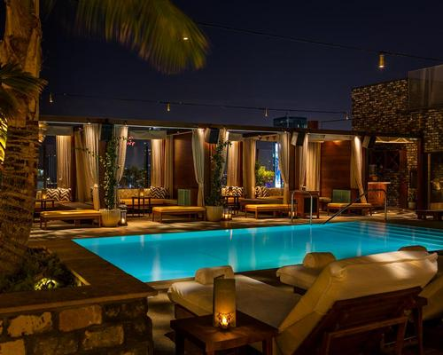 A swimming pool, cabanas and a secret garden cafe are housed on the hotel's roof / Warren Jagger